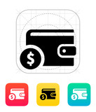 Wallet with dollar icon