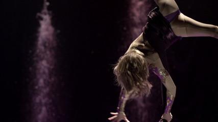 Aerial silk gymnast.