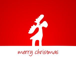 Karte Elch merry christmas