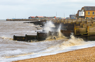 Windy weather in Whitstable, UK