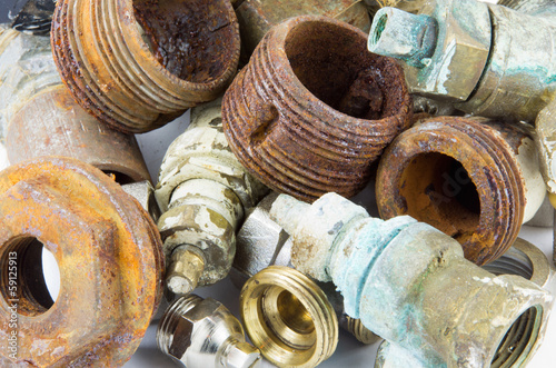 Rusty valves and threads