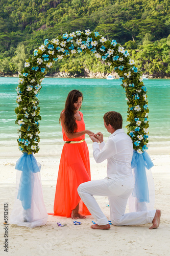 wedding ceremony on the beach