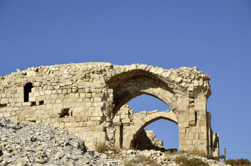 Remains of Shobak fortress.