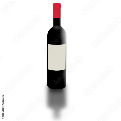 red wine bottle, vector