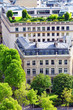 View of Paris from the Arc de Triomphe.  .Paris. France.