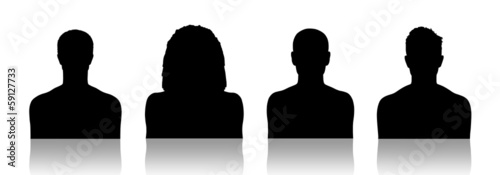 men id silhouette portraits set 1