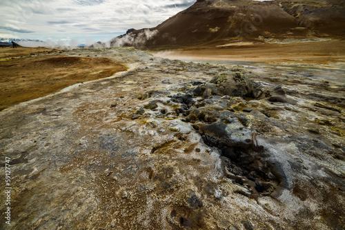 Arid ground, Hverir geothermal field, Iceland