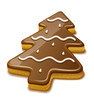 Christmas biscuit cookie in form of christmas tree. Eps10