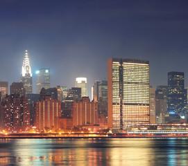 Urban city night view