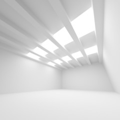 White abstract architecture background. Empty room interior