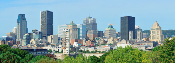 Montreal day view panorama