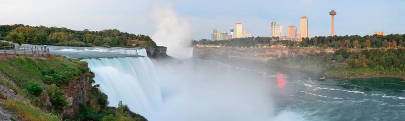 Niagara Falls sunrise panorama