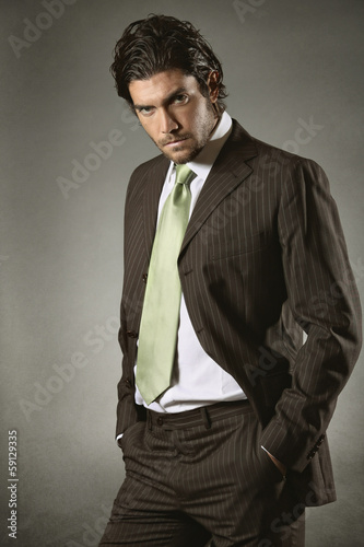 Businessman with resolute gaze
