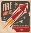 Vintage fireworks poster design - 59129559
