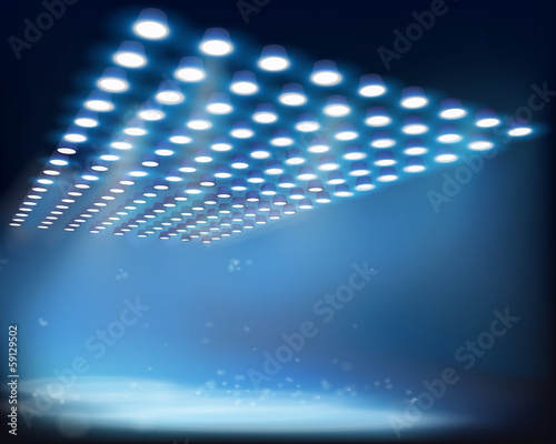 Light beams. Vector illustration.