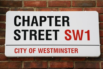 Chapter Street a famous London Street Sign