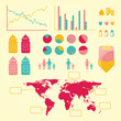 Global birht info graphic with statistics and graphs