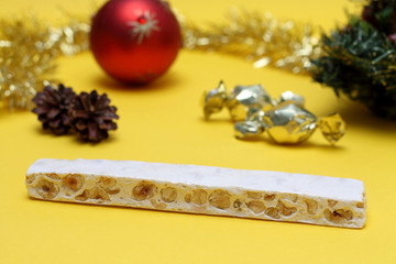 Nougat and Christmas decorations