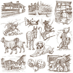 Traveling series: BULGARIA, part 1 - hand drawn illustrations