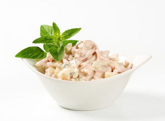Ham and potato salad