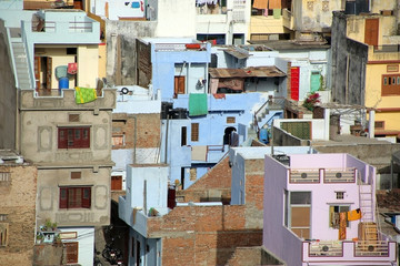 View of residential district, Udaipur
