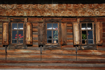 Wooden house in Suzdal