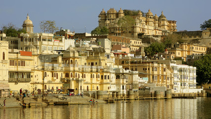 Everyday city scene in Udaipur, India