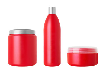Set of cosmetical bottles