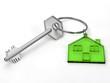 House key isolated on white