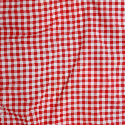 Abstract background texture of a red and white fabric