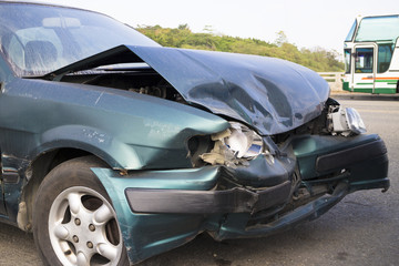 Car accident for insurance concept