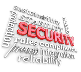 Security Words Protection Network Information Technology