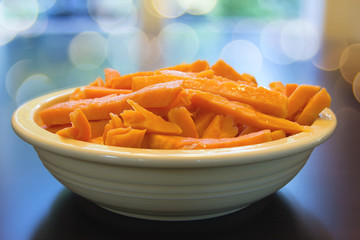 Sweet Potato Spears in Bowl