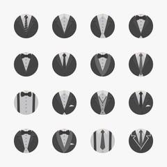 Businessman Suit Icons with White Background