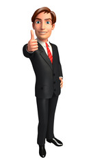 Young Business man with thumb up