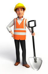 worker man with Spade