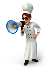 Chef  with loudspeaker
