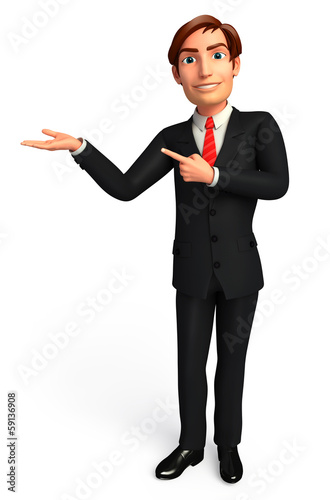 Young Business man on a presentation