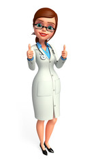 Lady smart Doctor with thumb up