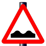 Uneven RoadTraffic Sign poster