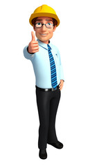 Service man with thumb up