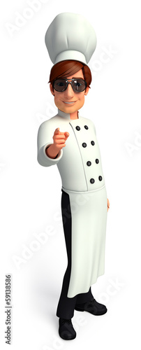Chef  with pointing