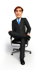 Young Business man on chair
