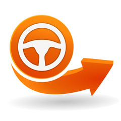 volant sur bouton web orange