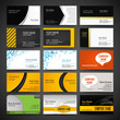 Business cards templates set