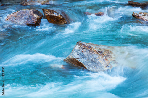 Fotobehang Rivier Glacier river