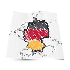 V001 Deutschland Vintage Karte