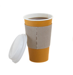 open take away coffee with cap