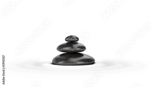 Pebbles Stack with Ripples