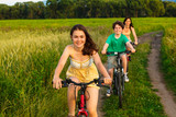 Healthy lifestyle - family cycling